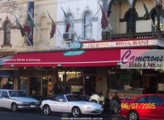 "Commercial Folding Arm Awning ""BAT Australia"" | Carlton"