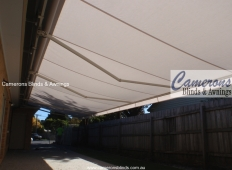 Folding Arm Awning white