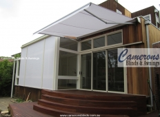 """Turnils Ibiza"" Folding Arm Awning with Vertiscreen straight drop sunblind"