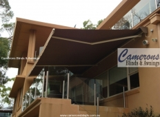 """Turnils Ibiza"" Folding Arm Awning on balcony 