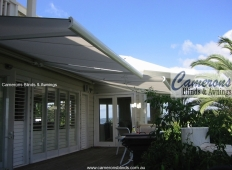 """Markilux"" Folding Arm Awning and Plantation Shutters"