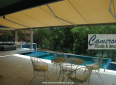 """Markilux"" Folding Arm Awning and pool"