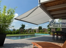 """Stobag"" Folding Arm Awning over pool"