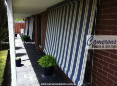Classic Sun Blinds Shades in Blockout Striped Canvas Fabric