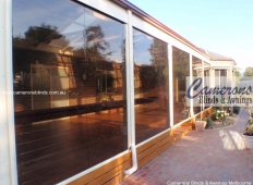 Ziptrak® Clear PVC Blinds - Tinted
