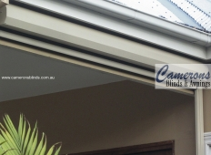 Ziptrak® Clear PVC Blind - Fully Retracted