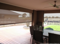 Ziptrak® Shade Mesh PVC Blinds - Alfresco Inside