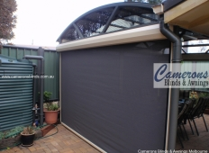 Ziptrak® Mesh PVC Blinds - Alfresco Black Outside