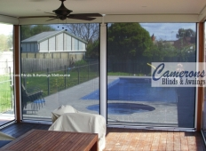 Ziptrak® Clear PVC & Mesh PVC Blinds - Charcoal
