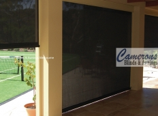 Ziptrak® Mesh PVC Blinds - Black - Inside