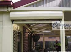 Ziptrak®  Clear PVC Blind - Doorway - Fully Retracted