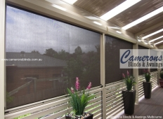 Ziptrak® Mesh PVC Blinds to Balustrade