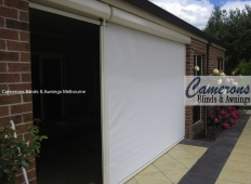 Ziptrak® Mesh PVC Blinds - door opening from Removable Post