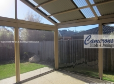 Ziptrak® Blind Features  - Fixed PVC Panels & Removable Posts
