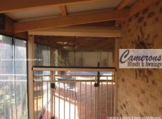 Ziptrak® Clear PVC Blinds - Tinted - Doorway