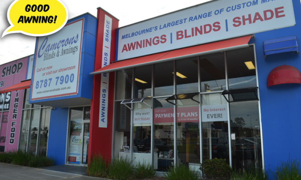 Camerons Blinds & Awnings Showroom -