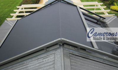 Fabric Tension System - Glass Roof Awnings
